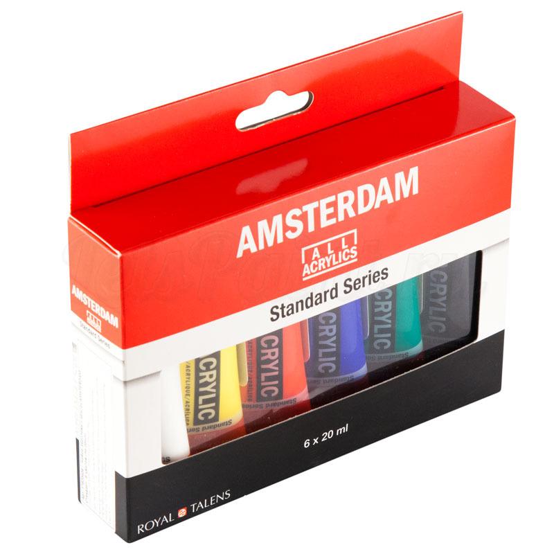Набор акриловых красок Amsterdam Standard - 6 цветов в тубах по 20мл