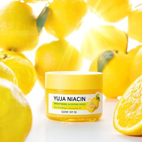Ночная выравнивающая тон маска с витамином С и ниацинамидом, 60 г / Some By Mi Yuja Niacin Brightening Sleeping Mask