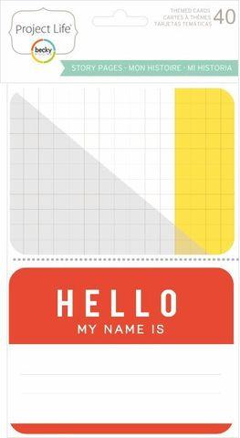 """Набор карточек """"My story"""" для Project life 40 шт"""