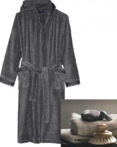 Элитный халат махровый Melange антрацит от Caleffi