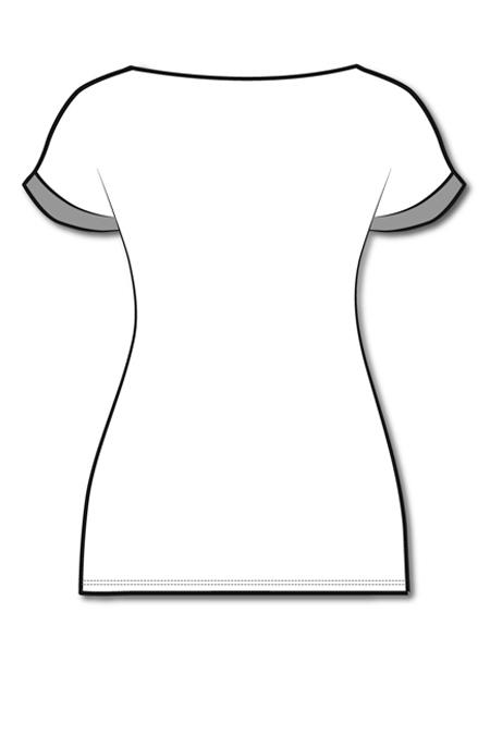 Лекала блузы полуприлегающего силуэта