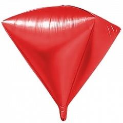 Шар (27''/69 см) Алмаз, Красный, 1 шт.