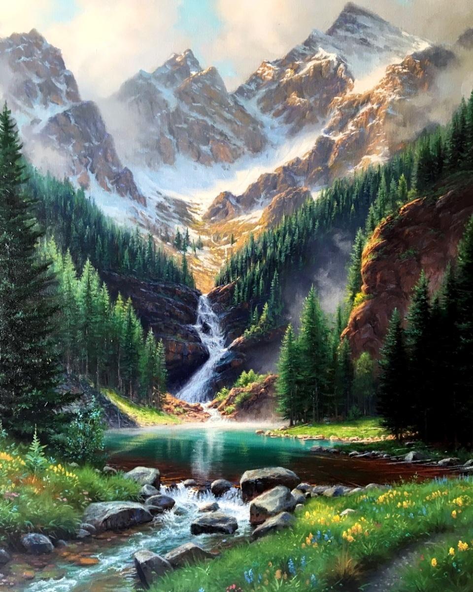 Картина раскраска по номерам 40x50 Сказочный вид на ...