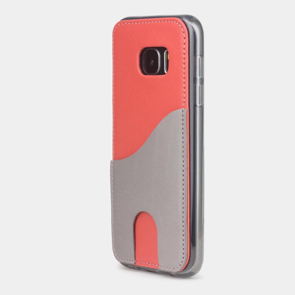 Чехол-накладка Andre для Samsung S7 из натуральной кожи теленка, кораллового цвета