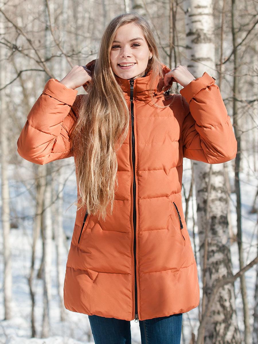 Joutsen пуховик Pia жженый апельсин - Фото 1