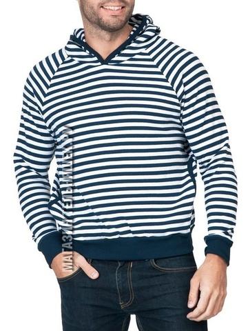 Толстовка мужская (темно-синяя полоса)