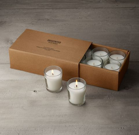 Unscented Filled Votives (Set of 8) - White