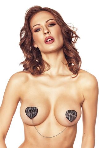 Необычные пэстисы на соски в форме сердца