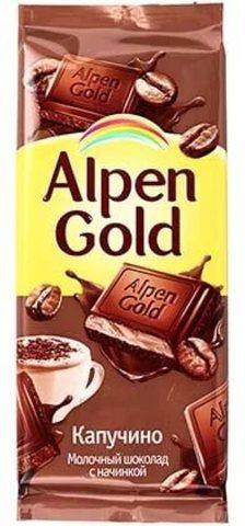 "Шоколад ""Alpen Gold"" капучино 90 г"