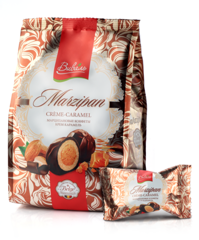 ВИВАЛЬ Марципановые конфеты крем-карамель 140г
