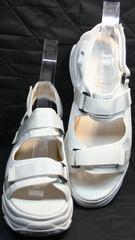 Сандали женские спортивные на толстой подошве Small Swan PM23-3 White.