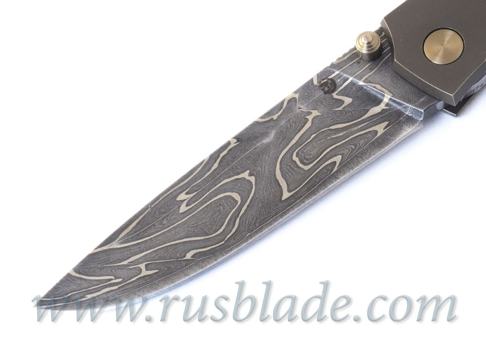 Cheburkov Custom Strizh Small Damascus Coral