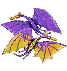 Г Фигура Дракон фиолетовый, 1 шт