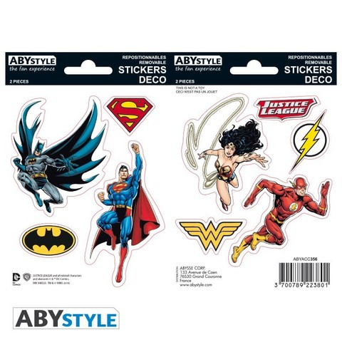 Наклейки ABYstyle: DC COMICS: Justice League ABYDCO356