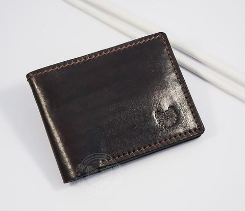 WB148-3 Стильный кожаный мужской кошелек ручной работы, &#34Boroda Design&#34