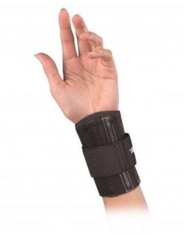 222 Wrist Brace,Black,One size Регулируемый бандаж на запястье.Черный