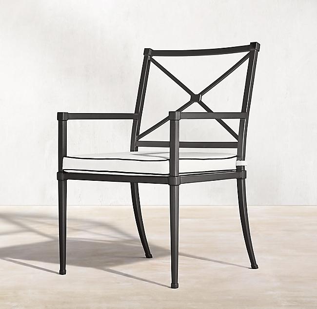 уличный алюминиевый стул с подлокотниками Trousdale