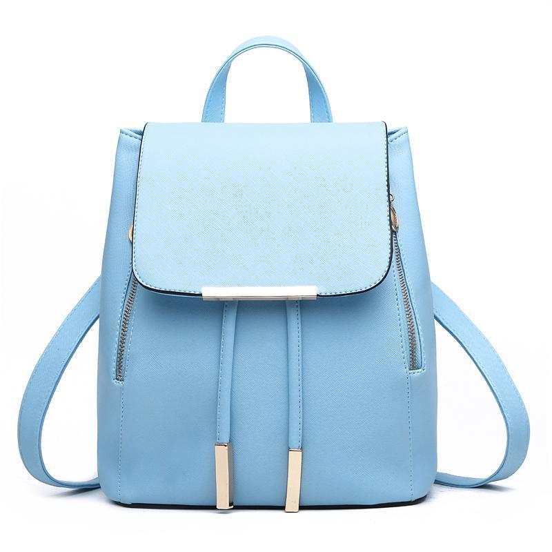 Женский средний рюкзак 24х29х15 см голубой 3588-3