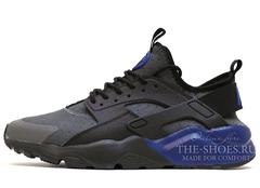 Кроссовки Мужские Nike Air Huarache Run Ultra Hyper Black Grey Blue