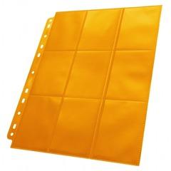 Ultimate Guard - Оранжевый двухсторонний лист для альбома на кольцах 3х3