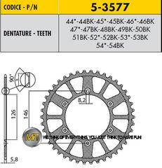 Звезда задняя ведомая Sunstar Rear Sproket 5-3577-52 для мотоцикла Husaberg Husqvarna KTM