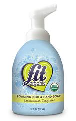 Органическая пенка для мытья посуды и рук Лемонграс-Мандарин, Fit Organic