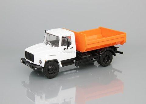 GAZ-35072 dump truck white-orange 1:43 DeAgostini Auto Legends USSR Trucks #32