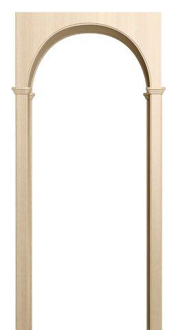 Арка межкомнатная ПВХ Лесма, Милано, цвет беленый дуб