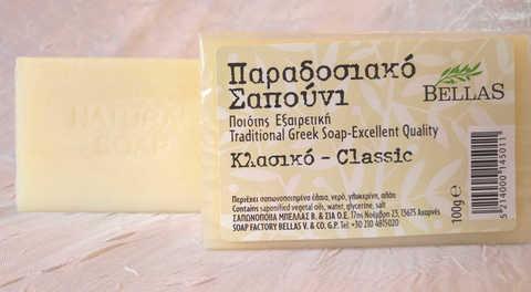Белое оливковое мыло Bellas Греция