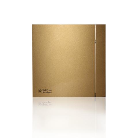 Вентилятор накладной S&P Silent 100 CHZ Design Gold (датчик влажности)