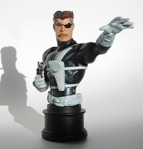 Bowen Designs Marvel Mini-Bust Nick Fury S.H.I.E.L.D Insignia Edition