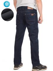 7705 джинсы мужские утепленные, темно-синие