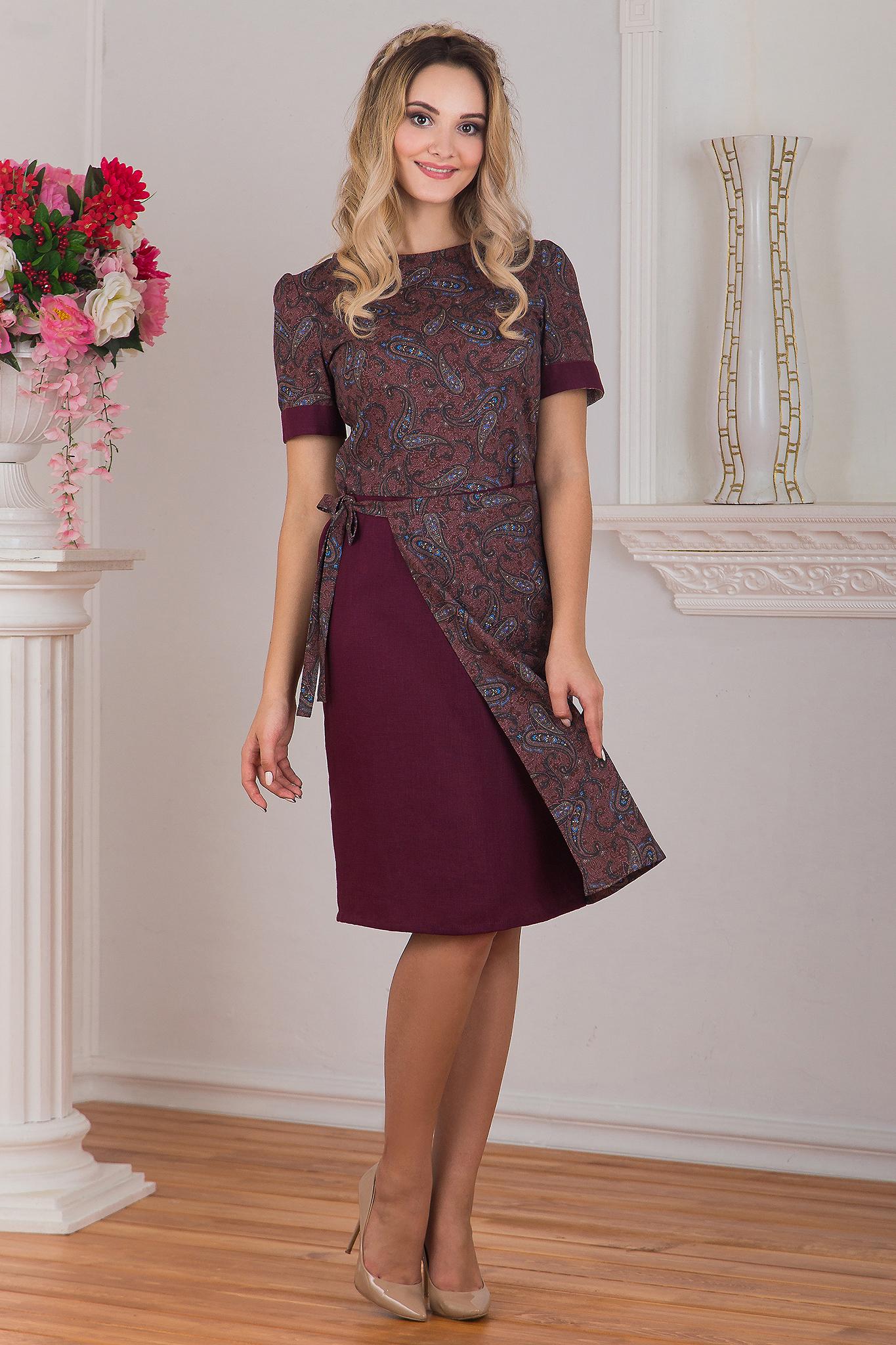 Платье с запахом Спелая вишня