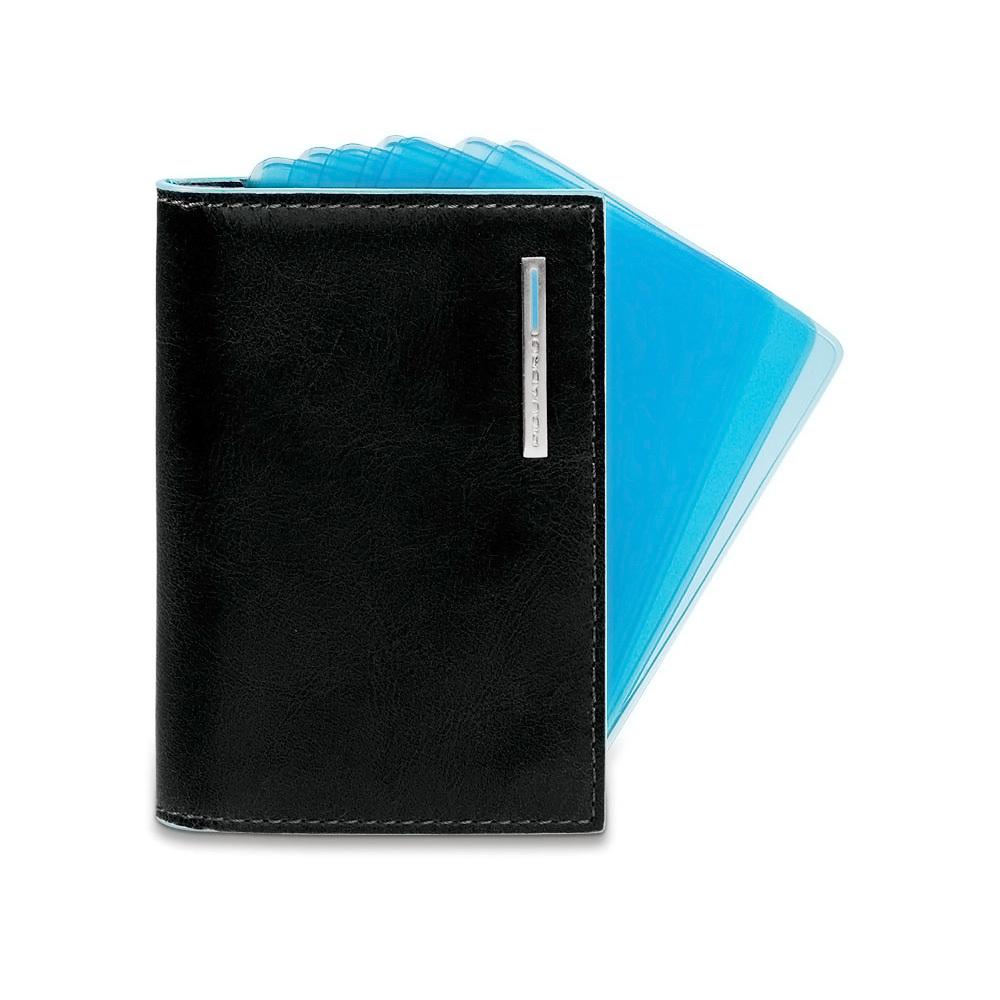 Чехол для кредитных карт Piquadro, цвет черный, 7,5х10,3х1,2 см (PP1661B2/N)