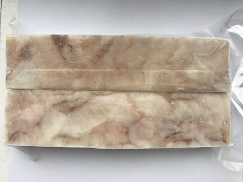 Филе трески без шкуры (в брикетах), 7,4 кг (коробка)
