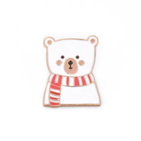 Значок, пін - Зимовий Ведмедик