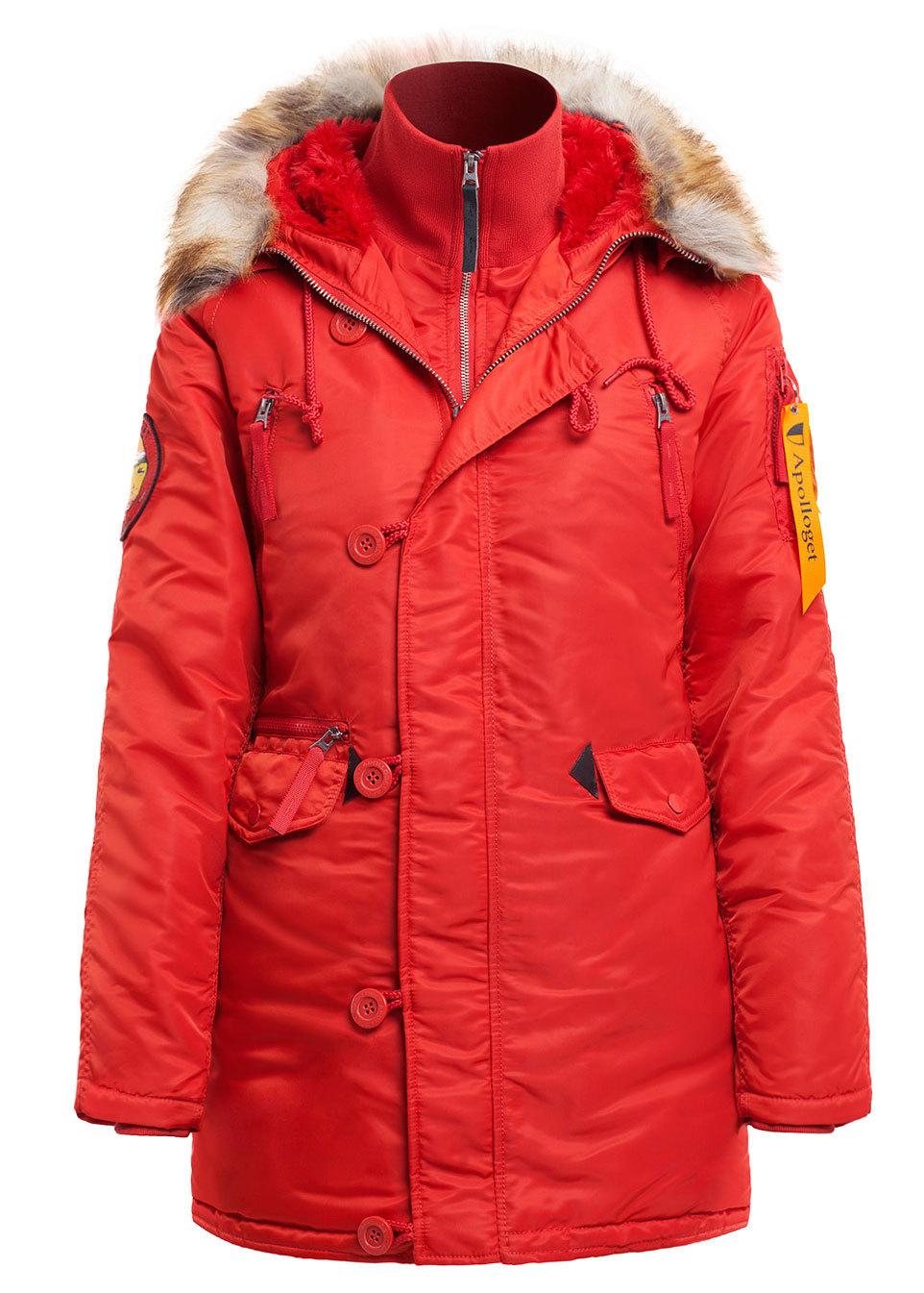 Куртка Аляска Женская - Apolloget Alaska Wmn (красная - red wine)