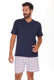 Мужская пижама с клетчатыми шортами B&B