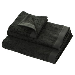 Набор полотенец 5 шт Roberto Cavalli Logo темно-серый