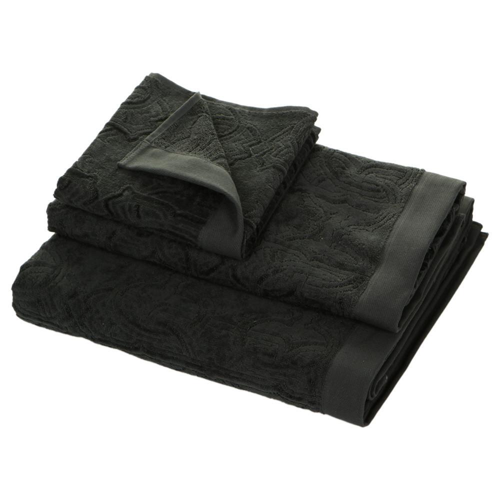 Наборы полотенец Набор полотенец 5 шт Roberto Cavalli Logo темно-серый polotentse-roberto-cavalli-logo-temno-seroe-italiya.jpg