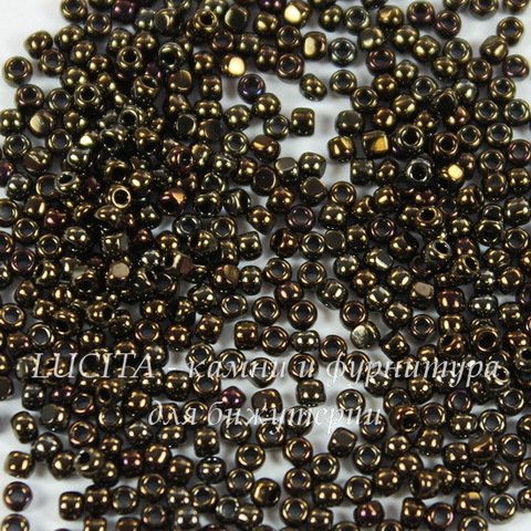 0083 Бисер японский TOHO Шарлотта (Charlottes) 15/0 коричневый металлик ирис
