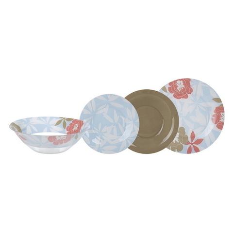 Сервиз столовый Luminarc Peony Floral Blue 19 предметов (N6264)