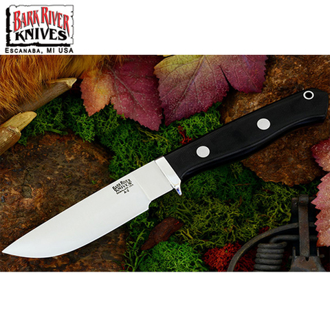Нож Bark River модель Gameskeeper Black Canvas Micarta