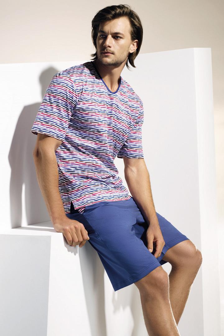 Стильная мужская пижама с шортами Zimmerli (Домашние костюмы и пижамы)