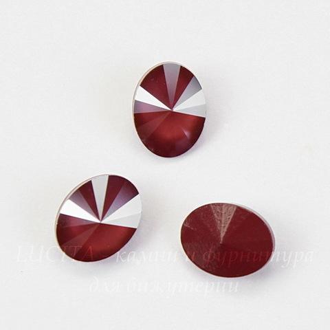4122 Oval Rivoli Ювелирные стразы Сваровски Crystal Dark Red (8х6 мм)