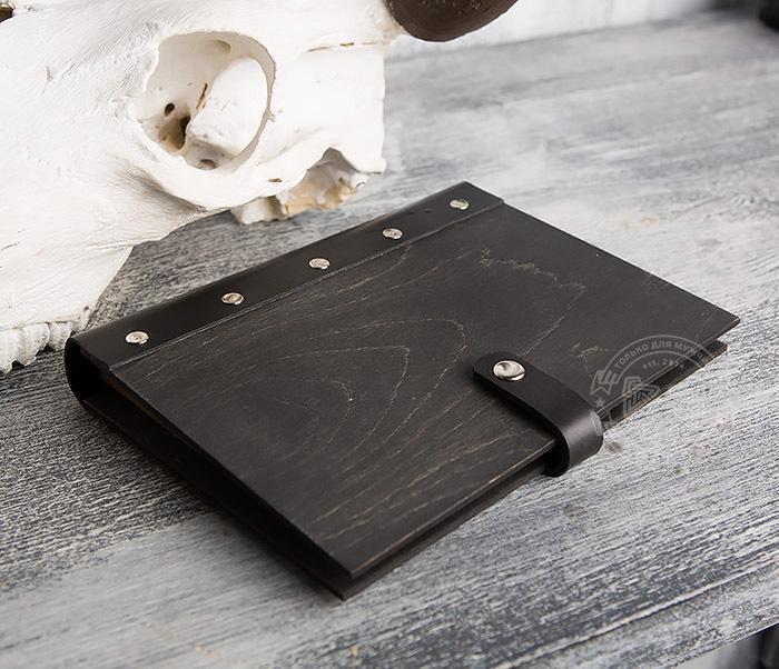 BC126-1 Оригинальный блокнот ручной работы в деревянной обложке фото 04