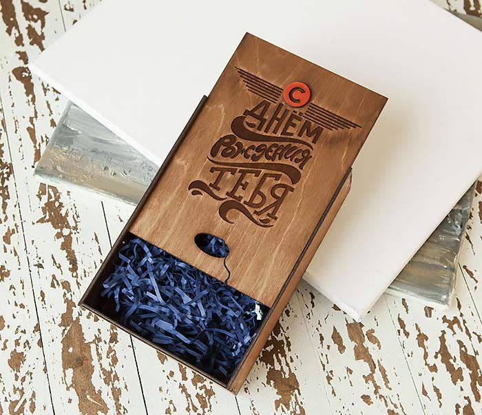 BOX229-2 Вместительная подарочная коробка на День рождения (18*26*7,5 см) фото 04