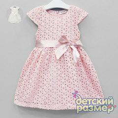 Платье (гипюр, атласный пояс)