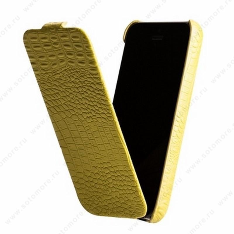 Чехол-флип Borofone для iPhone 5C - Borofone Crocodile Flip case Image series Apple green