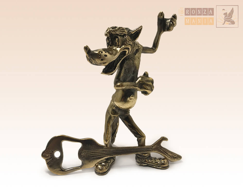 статуэтка Волк с гитарой-открывашкой - купить в интернет ...